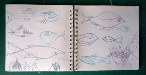 study of paul klee's fish