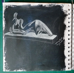study of henry moore's reclining figure