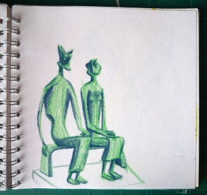 study of henry moore's king and queen