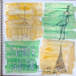 my sketches of various pieces attate modern