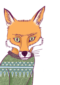 fox illustration by chris cowdrill