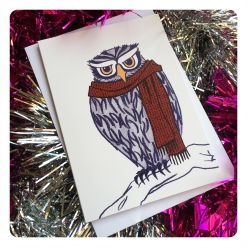 owl card by chris cowdrill