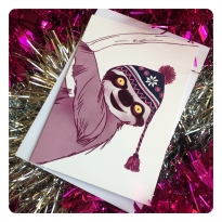 sloth card by chris cowdrill