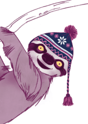 sloth illustration by chris cowdrill