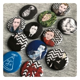 in dreams - david lynch badges by chris cowdrill