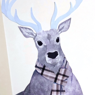 reindeer close up by chris cowdrill