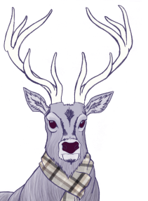 reindeer (digital) by chris cowdrill