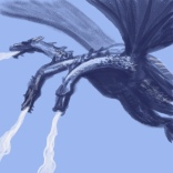 king ghidorah sketch by chris cowdrill